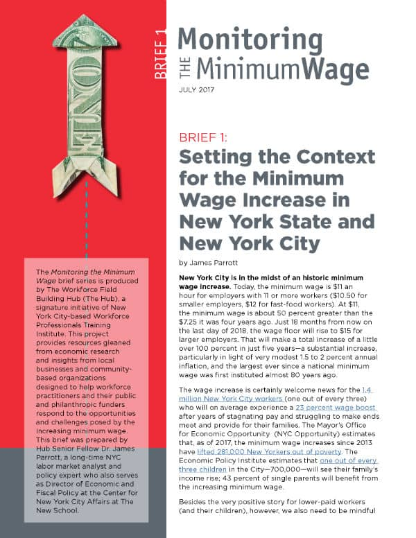 Field Building Hub Gains Insights from Local Businesses in Fourth Brief of the Monitoring the Minimum Wage Series